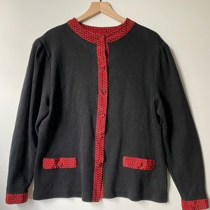 VTG Anastasia Long sleeve cardigan sweater, Sz 16